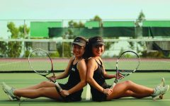 Senior Varsity co-captains Elly (left) and Sally Min (right) use their unique bond to excel on the tennis court.