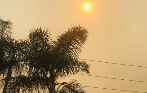 A heat wave, fog, and ash from wildfires created an orange sky over Brea on Sept. 9. Since then, air clarity and quality have improved.