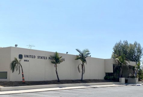 The Birch Street USPS branch. Decisions by USPS leadership have caused the slowing down of mail service, leaving some Brea residents wondering if their votes in this years election will be impacted.