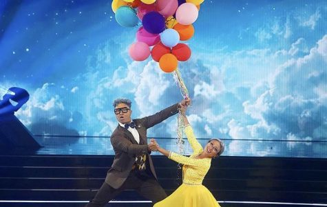 """Star Jeannie Mai and pro partner Brandon dance a Viennese Waltz to """"Married Life"""" from Up during Disney Night on the Sept. 28 episode of Dancing With the Stars."""