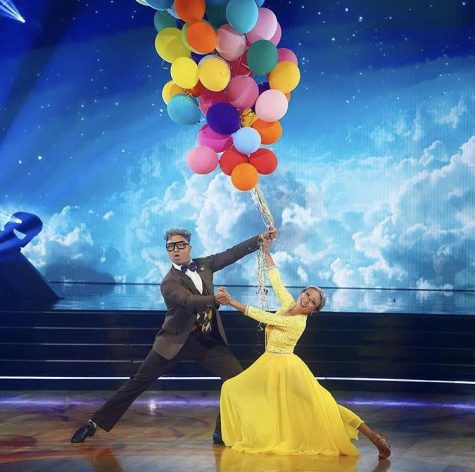 "Star Jeannie Mai and pro partner Brandon dance a Viennese Waltz to ""Married Life"" from Up during Disney Night on the Sept. 28 episode of Dancing With the Stars."
