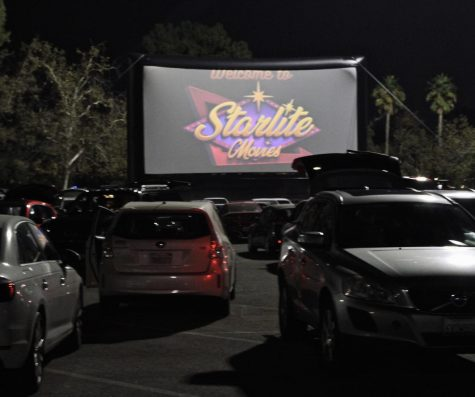 A showing of The Goonies in the Brea Mall parking lot. Drive-in movie experiences are making a comeback due to the pandemic and the closing of movie theater chains.