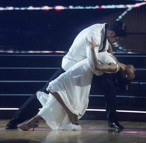 "Actress Skai Jackson and partner Alan perform a foxtrot dedicated to her late co-star, Cameron Boyce. Judge Carrie Ann Inaba called the dance ""sheer perfection."""