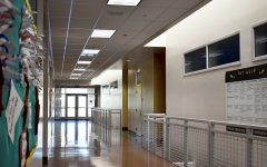 New Building hallways are empty as students distance learn. BOUSD is preparing for hybrid instruction to begin on Oct. 19.