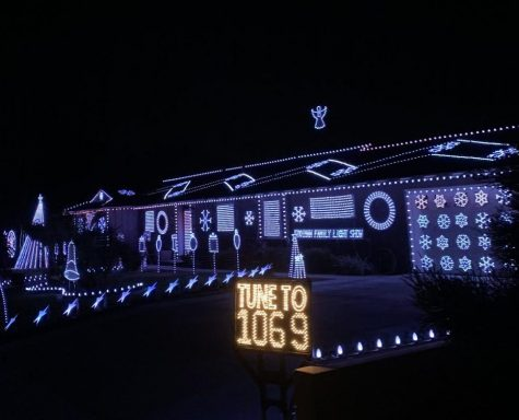 The Kooiman Family Christmas Light Show turns on their Christmas lights for passing visitors to watch and enjoy. The light show is single-handedly designed by Mark Kooiman every year.