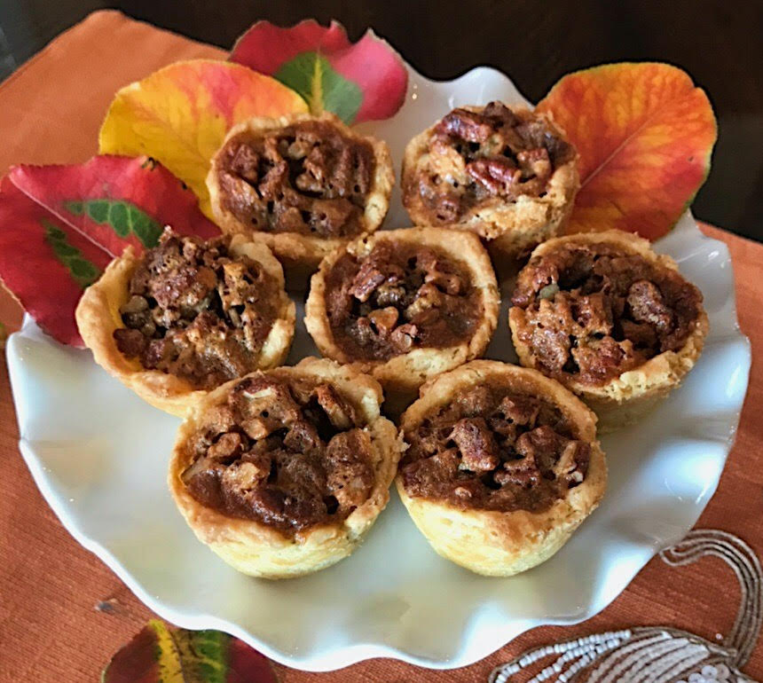 These mini pecan pies are easy to make, and will be a surefire hit at holiday family gatherings.