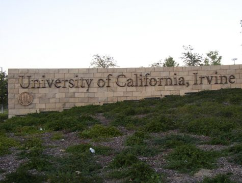 The welcome sign at the entrance of the University of Irvine, Calif. entrance. Starting Fall 2021, the University of California system will return to in-person instruction.