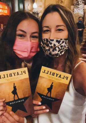 Wildcat A&E Co-Editor Melea Altermatt and her mom, Lauren, at L.A.s Pantages Theatre in L.A. before viewing Hamilton on Sept. 11.