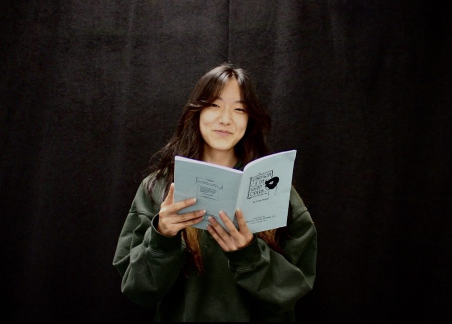 Senior Angela Jeong, lead of Play Productions Phantom of the Soap Opera, photographed in the Drama Room. Jeong and Play Pro will perform for the first time this fall at the Oct. 21 and 22 performances of the murder mystery.